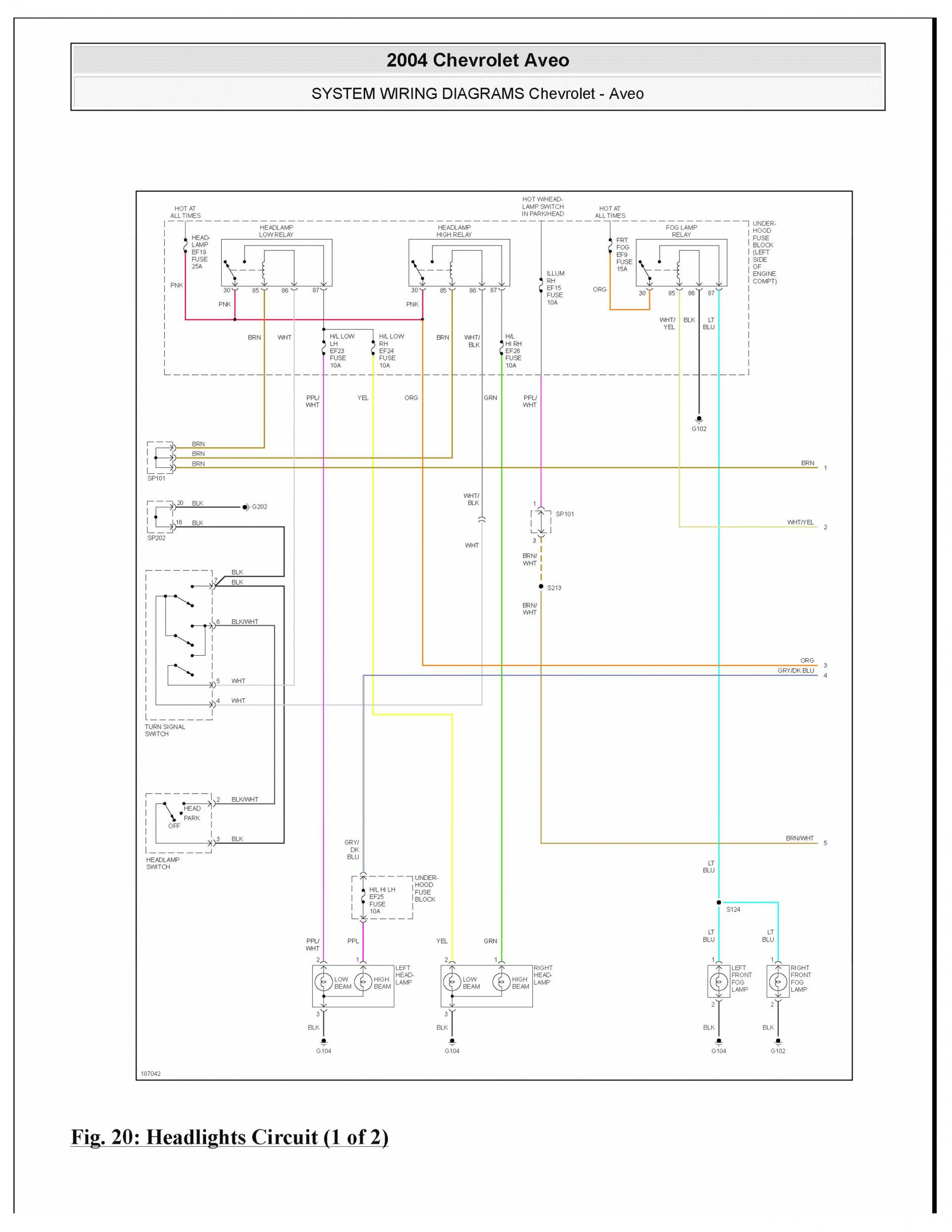 no headlights can find a wiring diagram rh aveoforum com 2004 Chevy Aveo  2005 Chevy Aveo