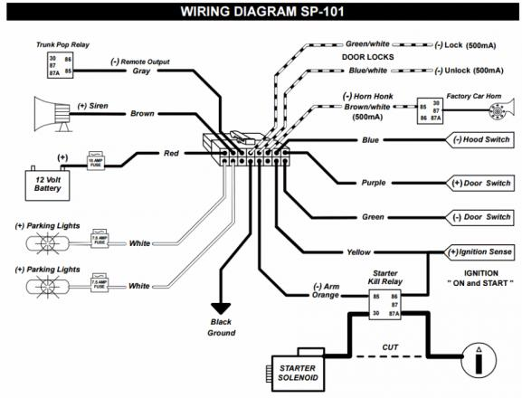 2006 chevy aveo wiring diagram help installing power locks part of sp 101 alarm system page 2 sp 101 wiring diagram