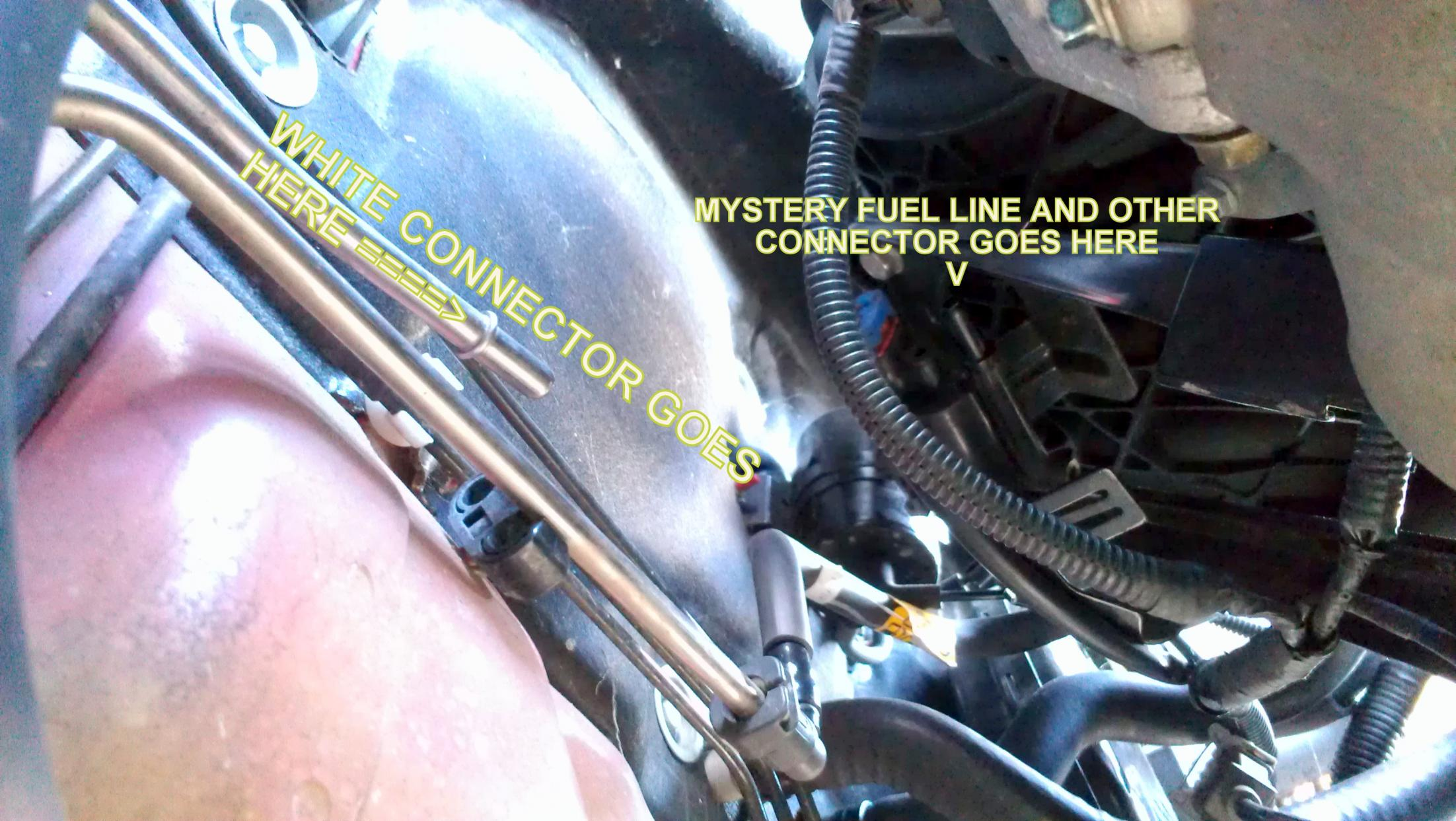 Fuel Line Replacement  Engine Compartment     Help