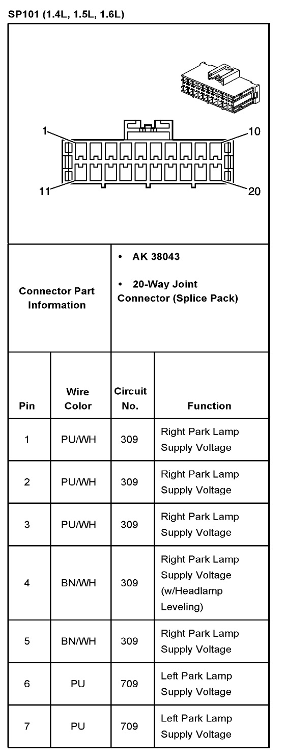 2005 Aveo Master Connector List And Diagrams Chevy Fuse Box Attached Images
