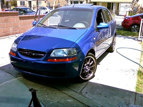 Baby Blue 2005 Chevrolet Aveo Garage Entry