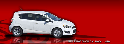 2012 Chevrolet Aveo / Sonic production model